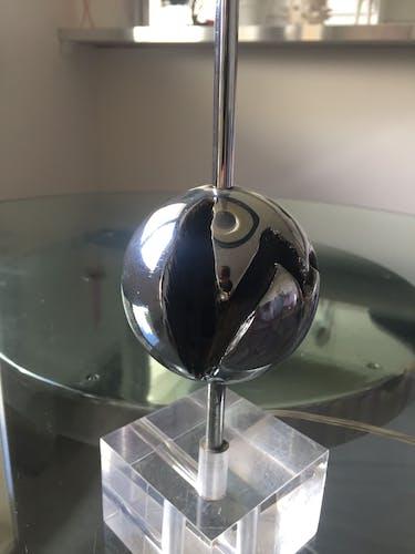 Lampe de table inox années 70
