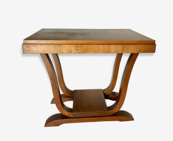 Petite Table Basse Art Déco Années 3040 Bois Matériau Marron