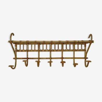 Rattan coat rack 7 hooks and floor