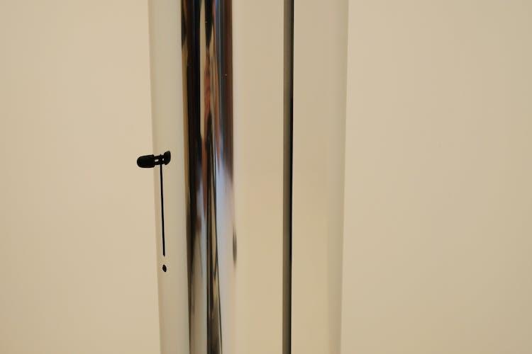 Pair of Artemide Megaron Aluminium Lampposts Polished by Gianfranco Frattini 1970