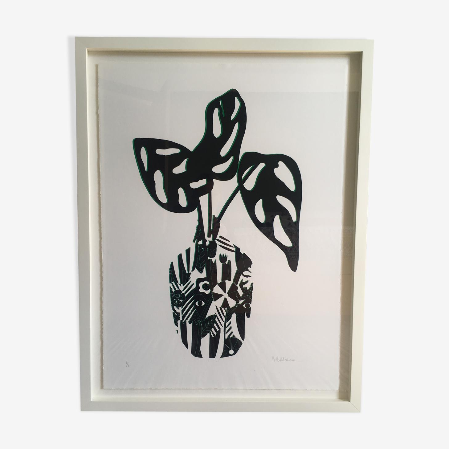 "Illustration ""jungle pot two"" by HelloMarine (framed)"
