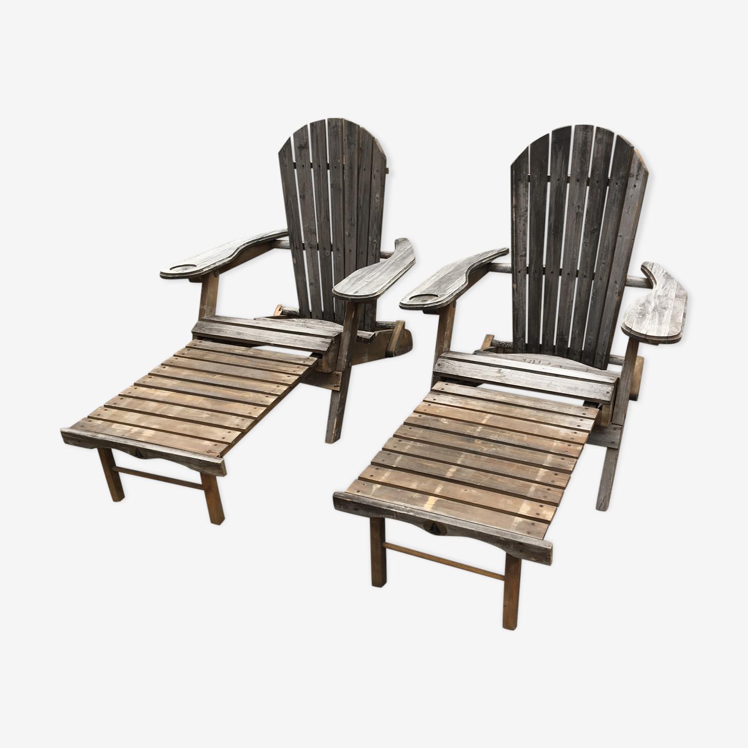 2 fauteuils Adirondack
