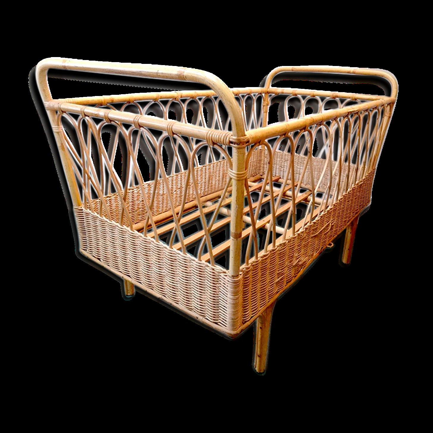 berceau-petit-lit-enfant-design-rotin-vintage_original Meilleur De De Chaise Haute Carrefour Schème