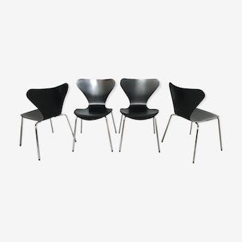 Série de 4 chaises Série 7 Fritz Hansen, Arne Jacobsen - 1991