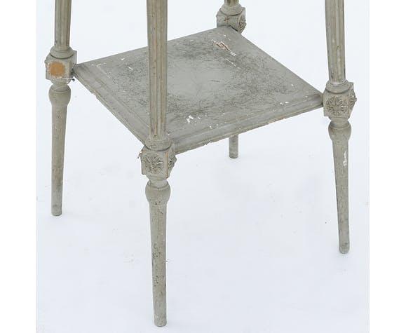 Sellette peinte grise de style Louis XVI