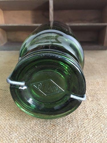 Paire de bocaux Bulach en verre épais