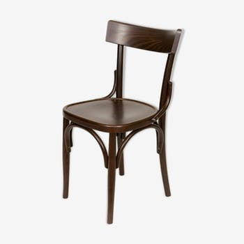 Bistro chair milano archi seat wood stained walnut