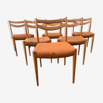 Set de 6 chaises 1960
