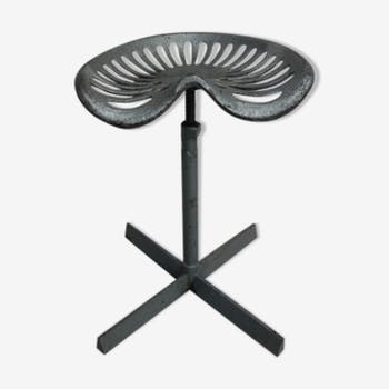 Industrial steel with rotating seat stool