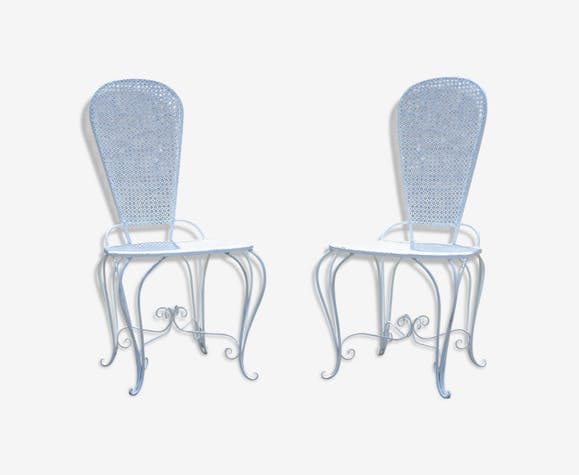 Two Small Wrought Iron Chairs
