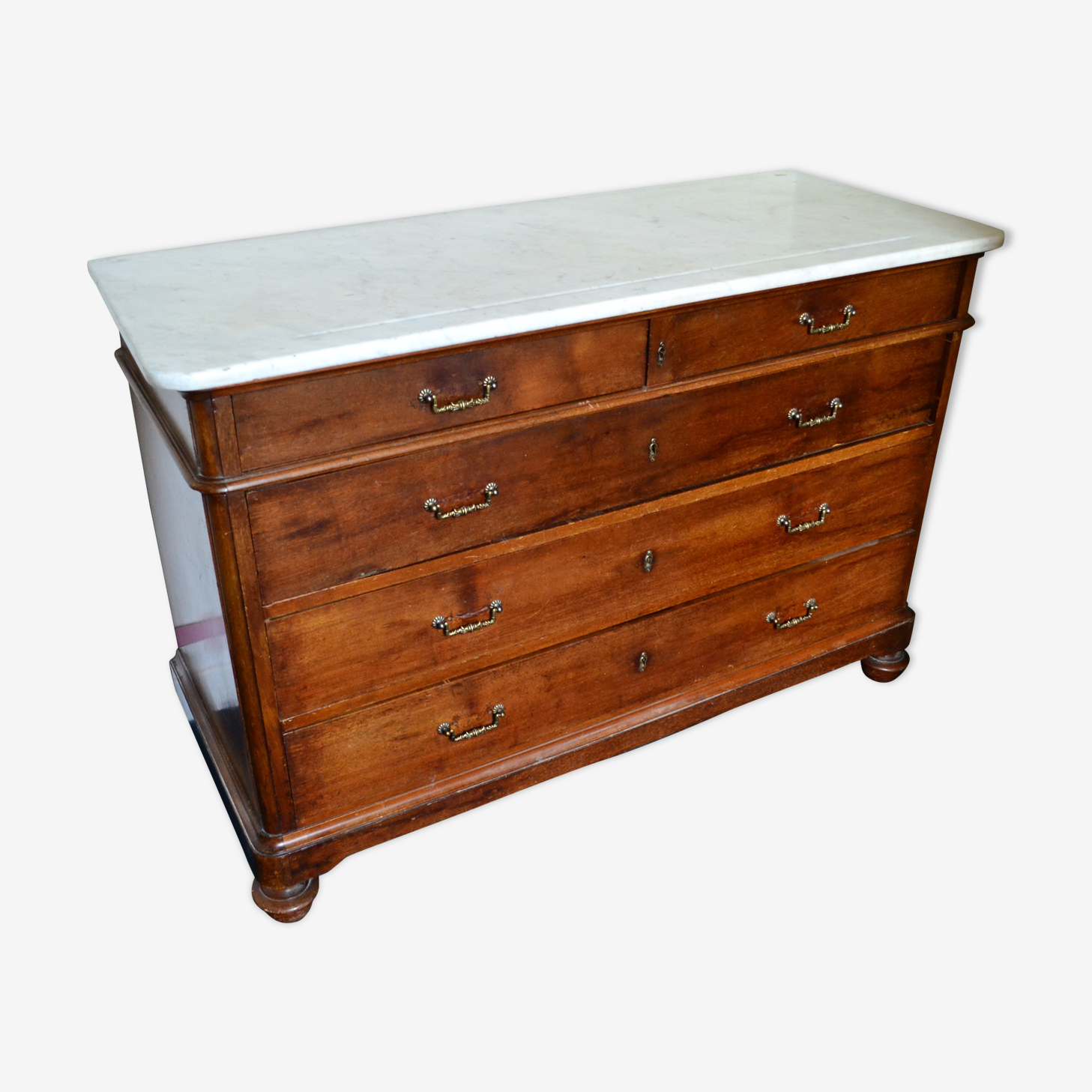 Old Dresser XIXth Walnut solid