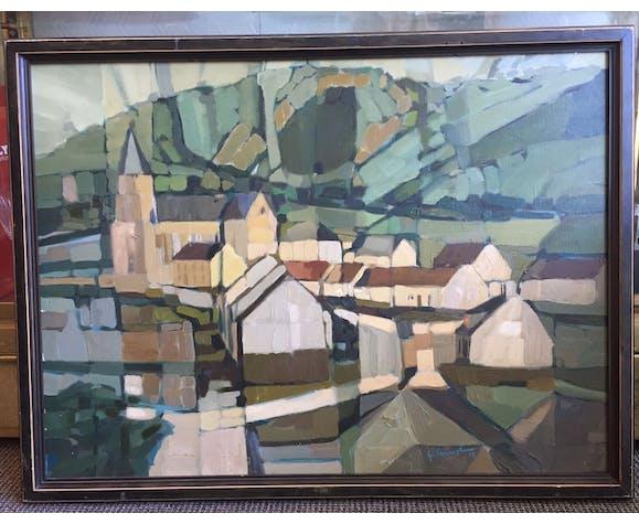 Tableau village français