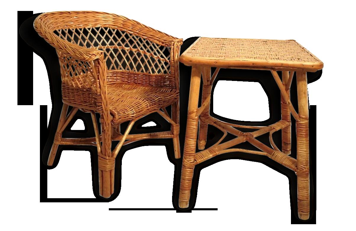 Roulant bureau osier suspendu salon fauteuil confortable location