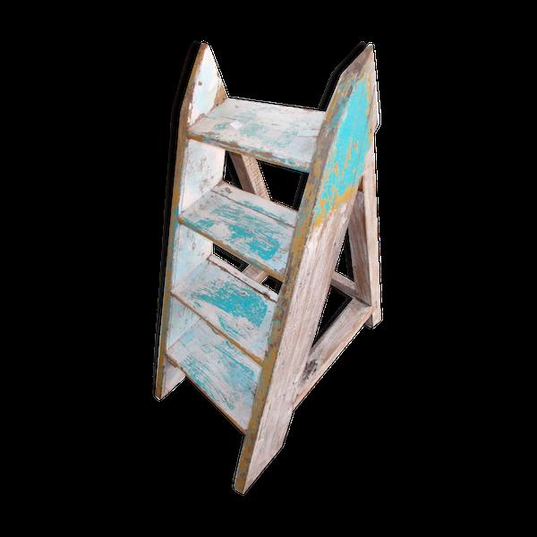Meuble escalier etageres teck