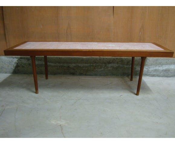 Table basse 1950 carreaux céramique