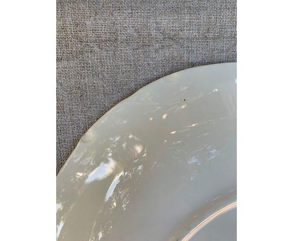 3 assiettes à soupe digoin sarreguemines modèle Touraine