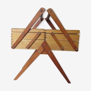 Travailleuse pieds compas en bois années 50 60