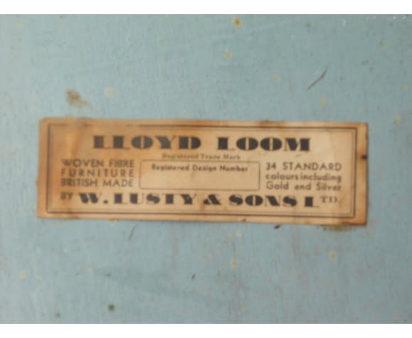 Lloyd Loom laundry chest