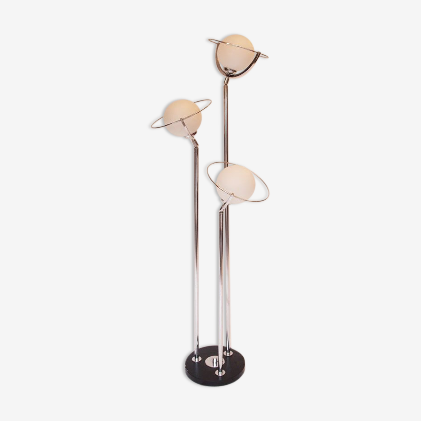 lampadaire 70's metal chrome