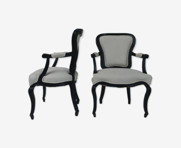 Paire de fauteuils classique