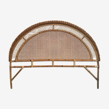 Headboard in rattan and caning