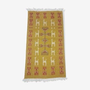 Kilim moroccan carpet 110x55cm