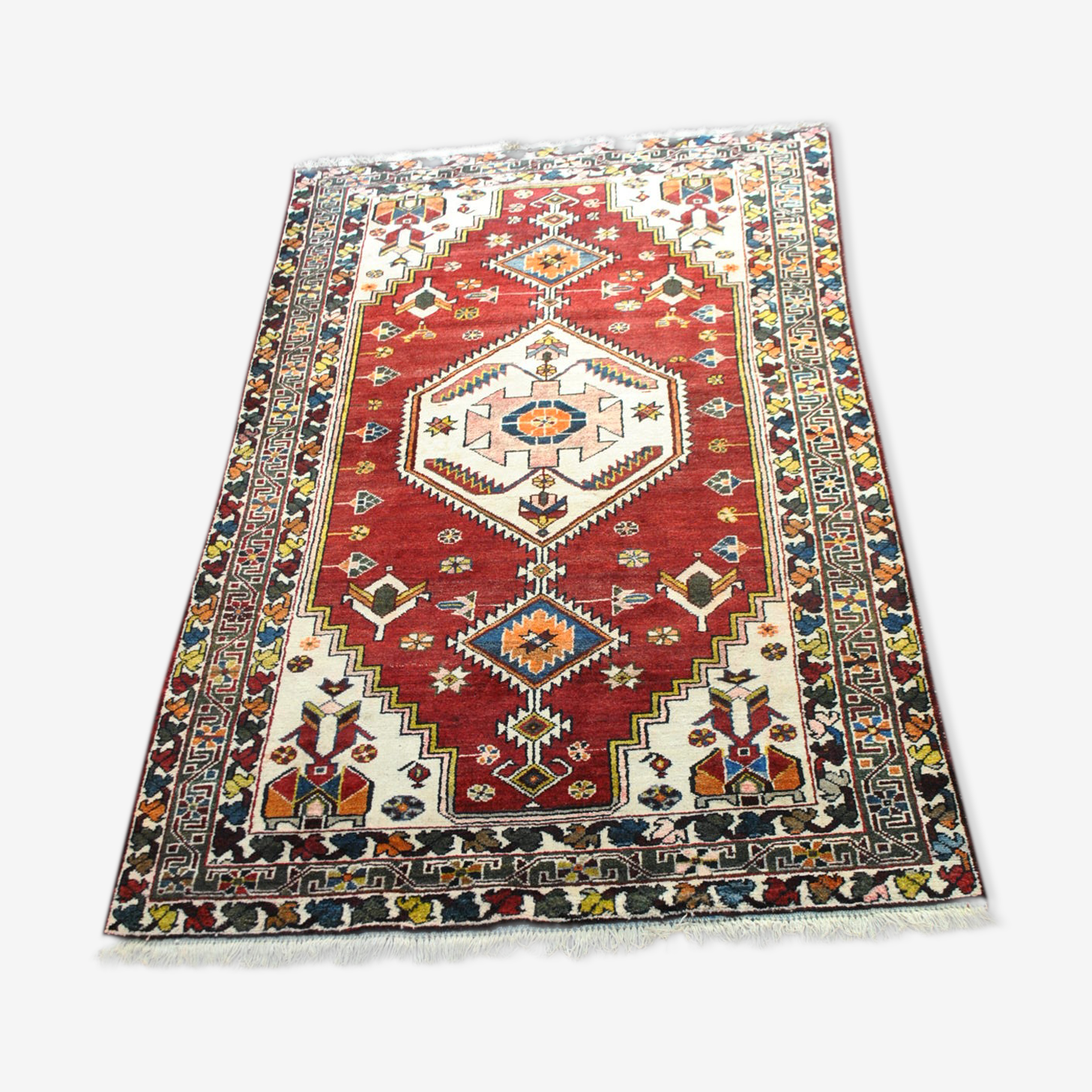 Carpet Persian athentique of the 1970s, knotted hands 208x134cm