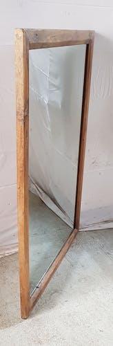 Ancien miroir en teck - 130x86cm