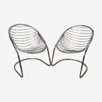 Paire de fauteuils modèle Egg chair de Gastone Rinaldi , 1970