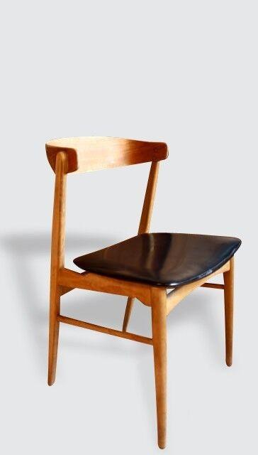 Fauteuil chaise bureau scandinave bois matériau noir