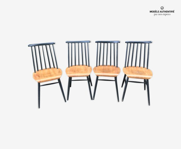 Quatre chaises Fanett par Ilmari Tapiovaara