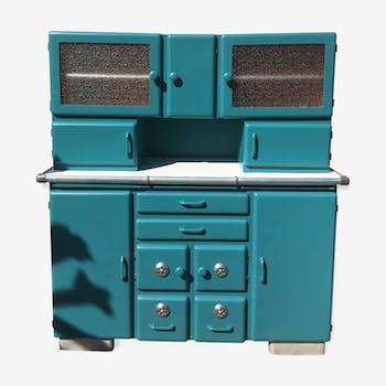buffet mado relook bois mat riau bleu vintage 7554rci. Black Bedroom Furniture Sets. Home Design Ideas