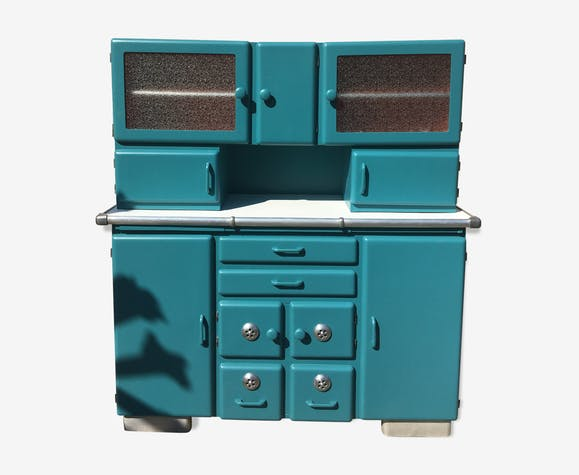 Meuble style Mado - bois (Matériau) - bleu - vintage - ez1L3Bq
