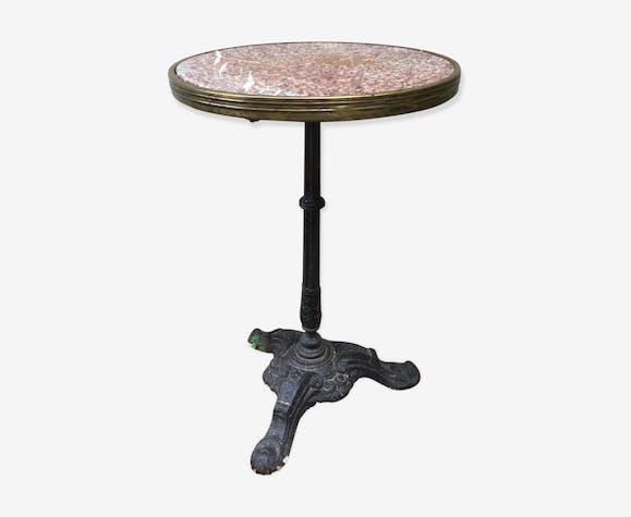 Table Bistrot Ronde Marbre.Table Bistrot Ancienne Ronde Marbre Rose Vintage J2hzbgv