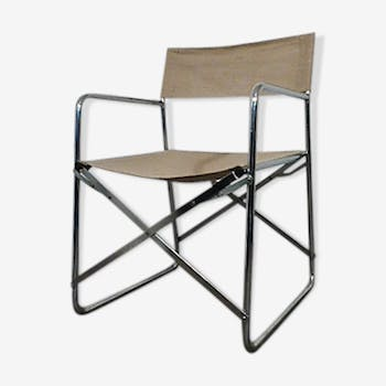 Folding chair in linen vintage 1970