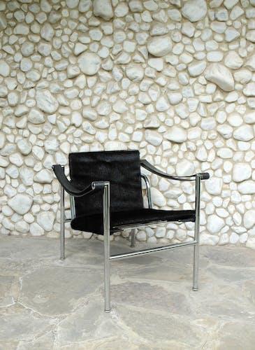 Fauteuil LC1 N°1395 par Le Corbusier, Pierre Jeanneret & Charlotte Perriand, Cassina, 1960
