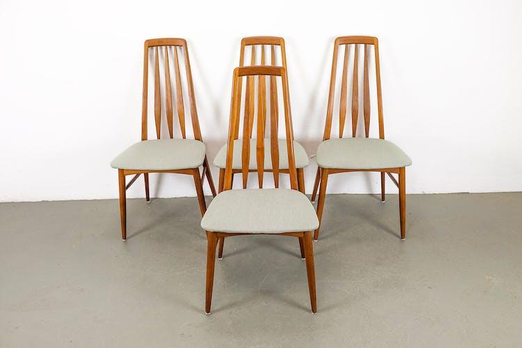 Chaises en teck danoises par Niels Koefoed pour Koefoeds Hornslet, années 1960