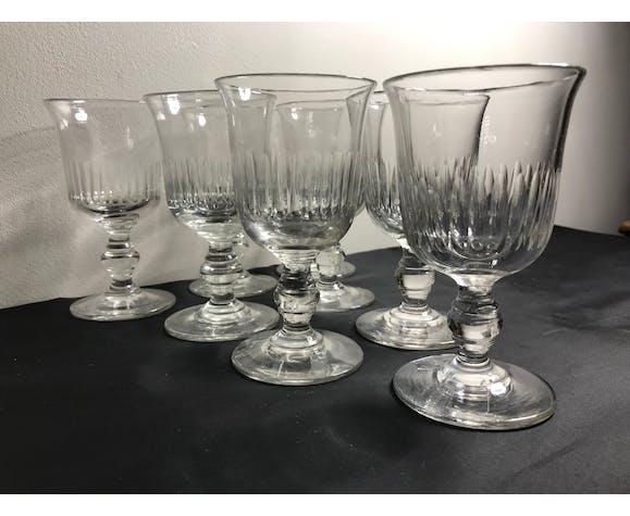 8 verres taillés Louis Philippe