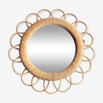 Mirror sun rattan