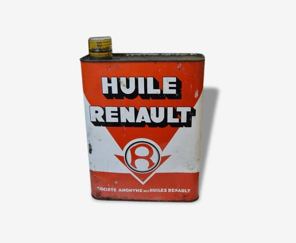 Bidon Ancien Dhuile Renault Garage Décoration Metal Red