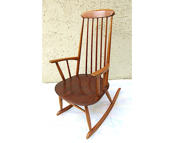 Rocking-chair scandinave, estampillé Stol kamnik