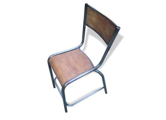 Chaise ancienne chimie ecole bois metal vintage ann e 70 for Chaise annee 70