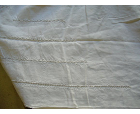 Old embroidered cotton sheet