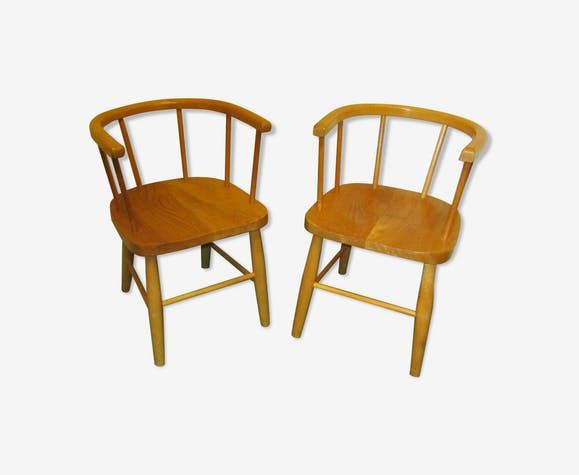 Paire de chaises d'enfant