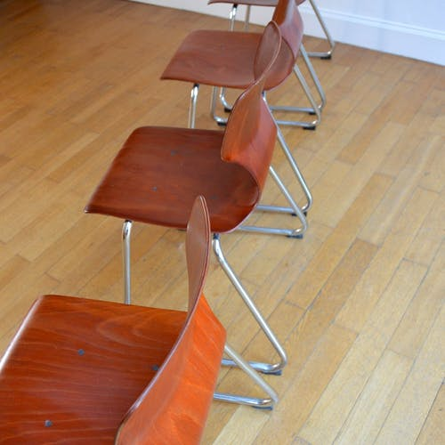 Suite de 4 chaises Flötotto pour Pagholz vintage