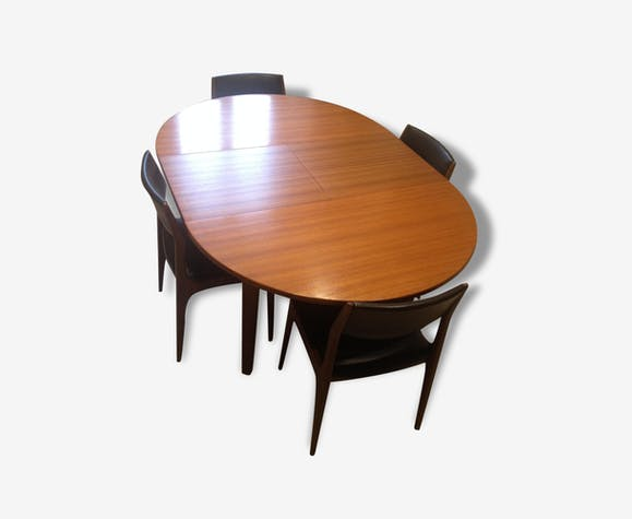 Table et chaise Roche Bobois - bois (Matériau) - marron ...