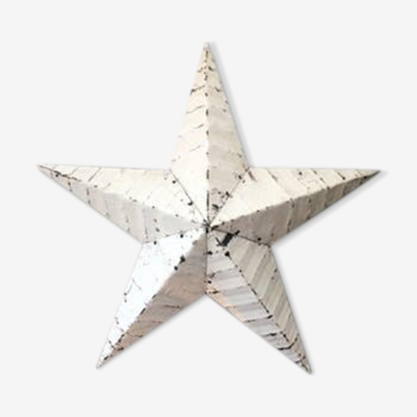 Étoile amish blanche – 60 cm de diamètre