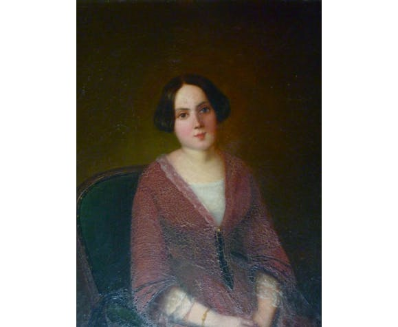 Portrait of young woman end XIX