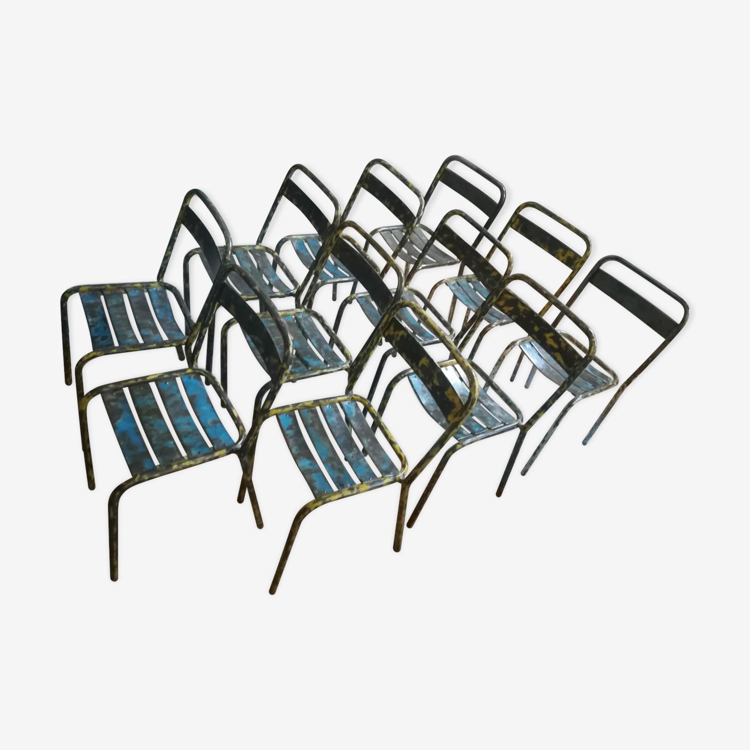 Chaises Tolix T1