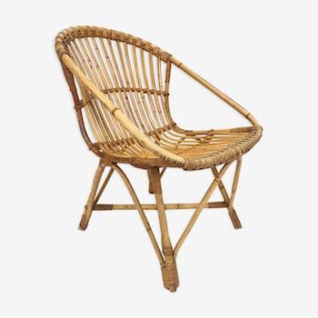 Rohe Noordwolde rattan chair, 1960, Netherlands